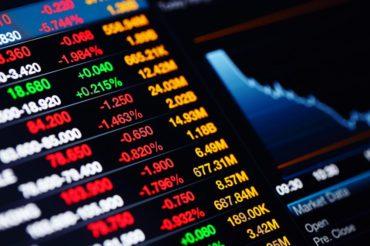 Stock Market data on the screen